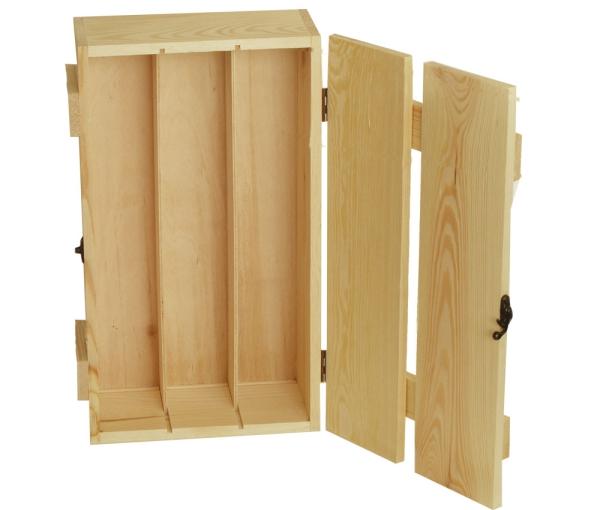 holzkisten kaufen weinkisten korbwaren box mit holzlatten deckel. Black Bedroom Furniture Sets. Home Design Ideas