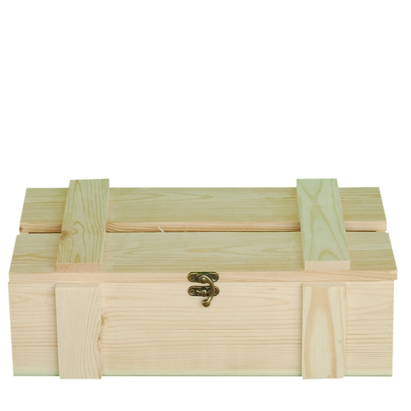 Holzkisten kaufen weinkisten korbwaren box mit for Box mit deckel 30x30x30