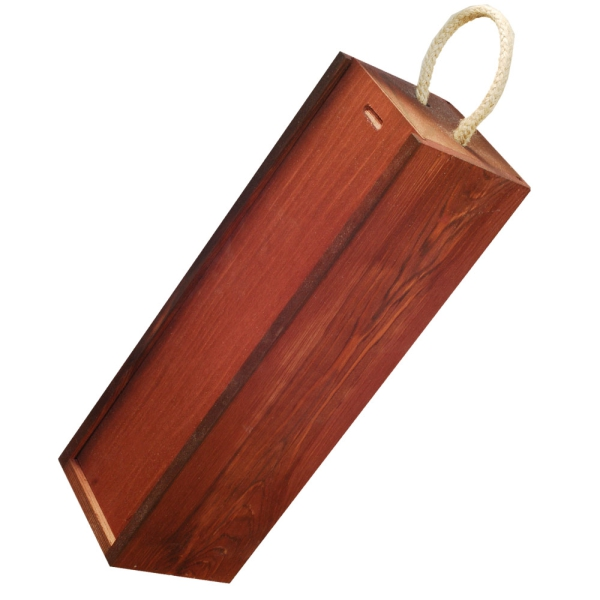 Wooden box with sliding lid for 1 bottle red - Kopie - Kopie - Kopie - Kopie - Kopie