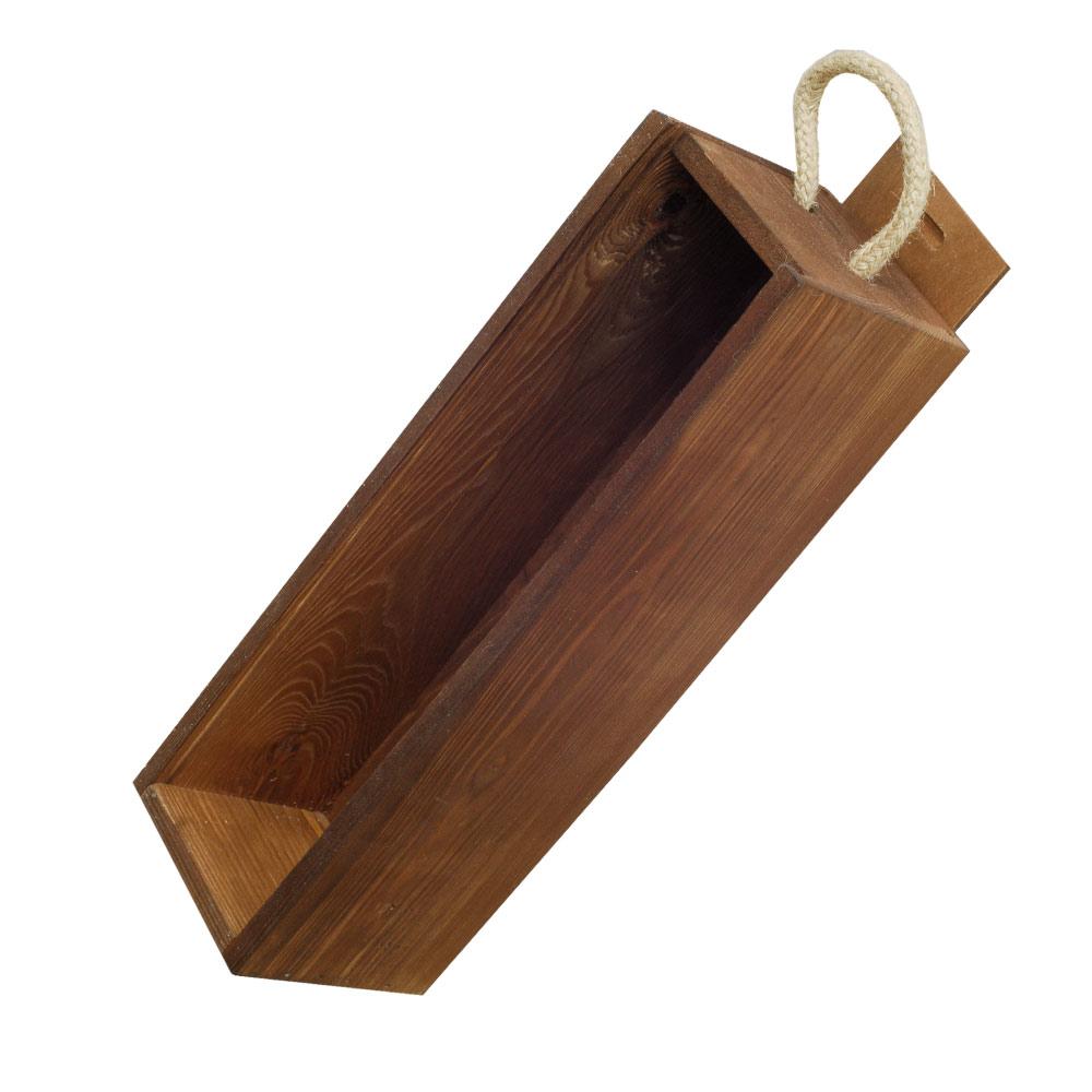 holzkisten kaufen weinkisten korbwaren braune holzkiste f r 1 weinflasche plexiglas. Black Bedroom Furniture Sets. Home Design Ideas